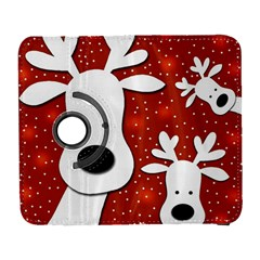Christmas reindeer - red 2 Samsung Galaxy S  III Flip 360 Case