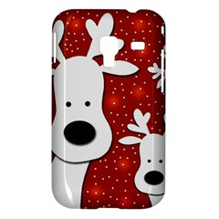 Christmas reindeer - red 2 Samsung Galaxy Ace Plus S7500 Hardshell Case
