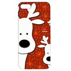 Christmas reindeer - red 2 Apple iPhone 5 Hardshell Case with Stand