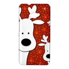 Christmas reindeer - red 2 HTC One M7 Hardshell Case
