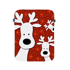 Christmas reindeer - red 2 Apple iPad 2/3/4 Protective Soft Cases