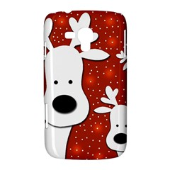 Christmas reindeer - red 2 Samsung Galaxy Duos I8262 Hardshell Case