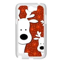 Christmas reindeer - red 2 Samsung Galaxy Note 2 Case (White)