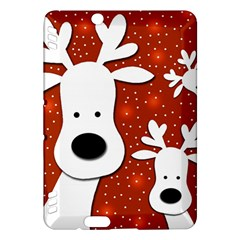 Christmas reindeer - red 2 Kindle Fire HDX Hardshell Case