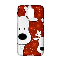 Christmas reindeer - red 2 Samsung Galaxy S5 Hardshell Case