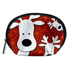 Christmas reindeer - red 2 Accessory Pouches (Medium)