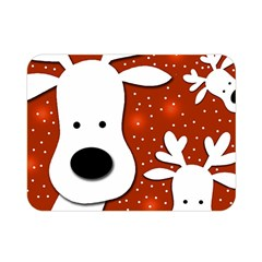 Christmas reindeer - red 2 Double Sided Flano Blanket (Mini)