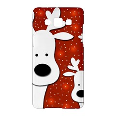 Christmas reindeer - red 2 Samsung Galaxy A5 Hardshell Case