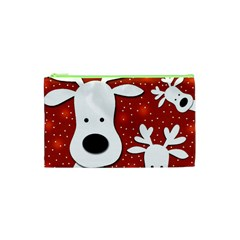 Christmas reindeer - red 2 Cosmetic Bag (XS)