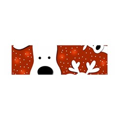 Christmas reindeer - red 2 Satin Scarf (Oblong)