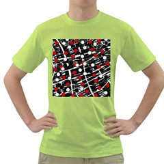 Red and white dots Green T-Shirt