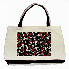 Red and white dots Basic Tote Bag