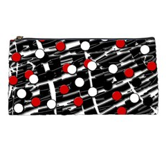 Red and white dots Pencil Cases
