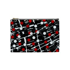 Red And White Dots Cosmetic Bag (medium)