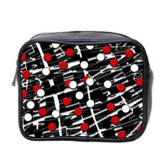 Red and white dots Mini Toiletries Bag 2-Side