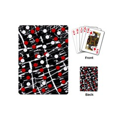Red and white dots Playing Cards (Mini)