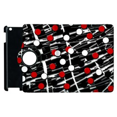 Red and white dots Apple iPad 2 Flip 360 Case