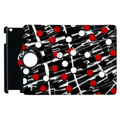 Red and white dots Apple iPad 3/4 Flip 360 Case