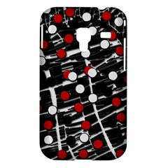 Red and white dots Samsung Galaxy Ace Plus S7500 Hardshell Case