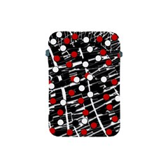 Red and white dots Apple iPad Mini Protective Soft Cases