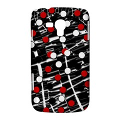 Red and white dots Samsung Galaxy Duos I8262 Hardshell Case