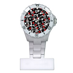 Red and white dots Plastic Nurses Watch