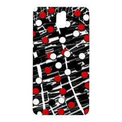 Red and white dots Samsung Galaxy Note 3 N9005 Hardshell Back Case