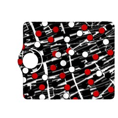Red and white dots Kindle Fire HDX 8.9  Flip 360 Case