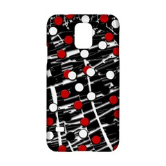 Red and white dots Samsung Galaxy S5 Hardshell Case