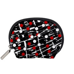 Red and white dots Accessory Pouches (Small)