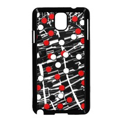 Red and white dots Samsung Galaxy Note 3 Neo Hardshell Case (Black)