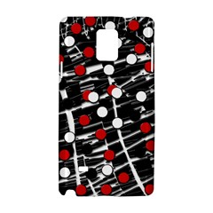 Red and white dots Samsung Galaxy Note 4 Hardshell Case