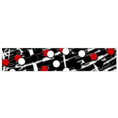 Red and white dots Flano Scarf (Small)