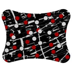 Red And White Dots Jigsaw Puzzle Photo Stand (bow)
