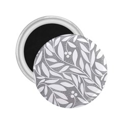 Gray and white floral pattern 2.25  Magnets