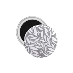 Gray and white floral pattern 1.75  Magnets