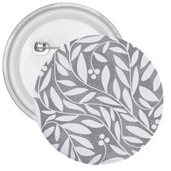 Gray and white floral pattern 3  Buttons