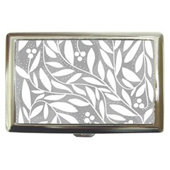 Gray and white floral pattern Cigarette Money Cases