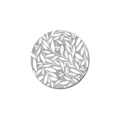 Gray and white floral pattern Golf Ball Marker (4 pack)