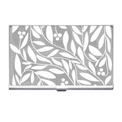 Gray and white floral pattern Business Card Holders