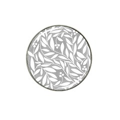 Gray and white floral pattern Hat Clip Ball Marker (4 pack)