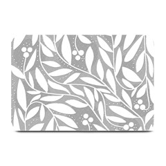 Gray and white floral pattern Plate Mats