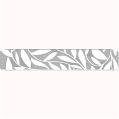 Gray and white floral pattern Small Bar Mats