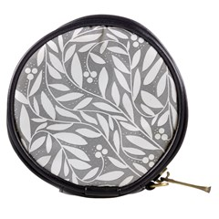 Gray and white floral pattern Mini Makeup Bags