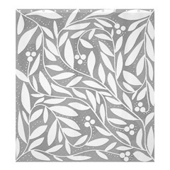 Gray and white floral pattern Shower Curtain 66  x 72  (Large)