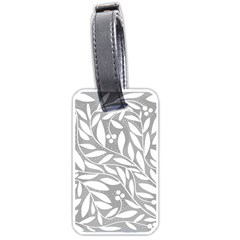 Gray and white floral pattern Luggage Tags (One Side)