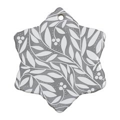 Gray and white floral pattern Ornament (Snowflake)