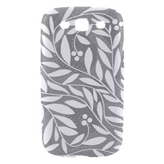 Gray and white floral pattern Samsung Galaxy S III Hardshell Case