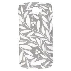 Gray and white floral pattern HTC One S Hardshell Case