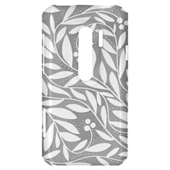 Gray and white floral pattern HTC Evo 3D Hardshell Case